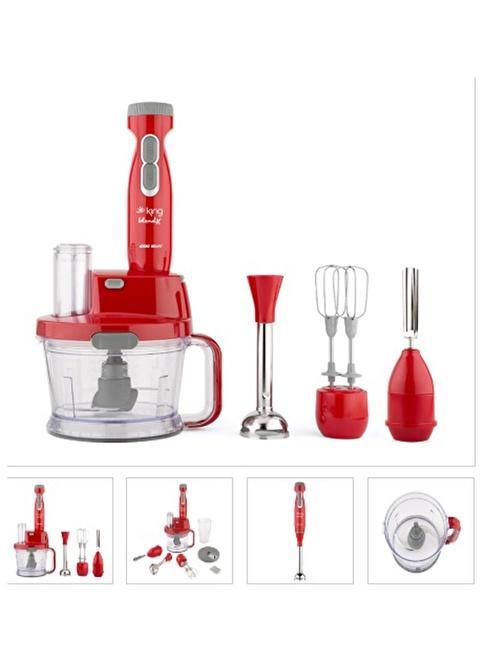 King Blendx Komple Blender Seti  Kırmızı